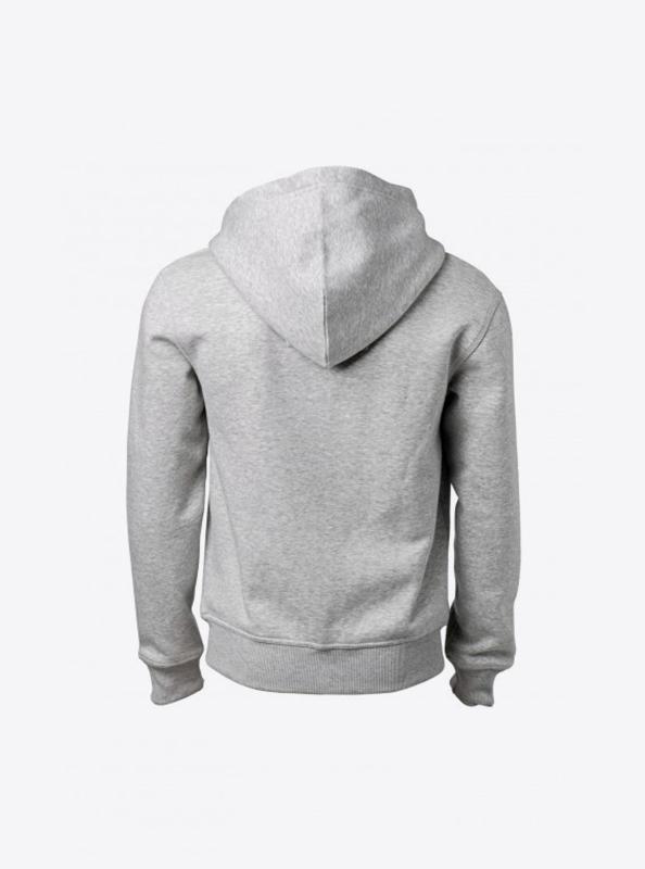 Herren Sweatshirt Zip Hoodie In Zuerich Besticken Nimbus Stanford Grey Melange