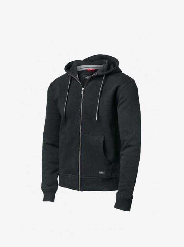 Herren Sweatshirt Zip Hoodie Mit Logo Drucken Nimbus Stanford Black