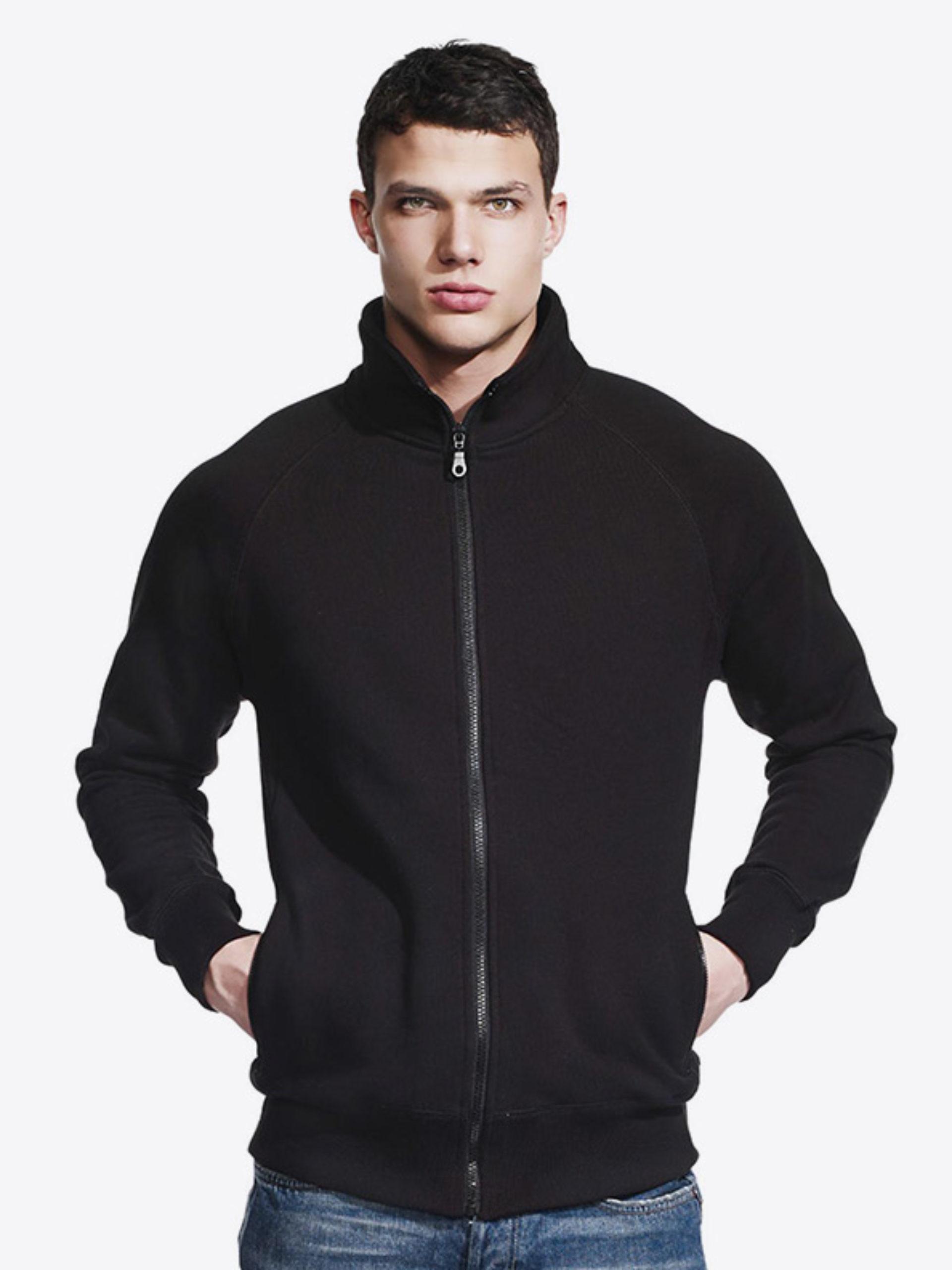Herren Sweatshirt Zip Hoodie Mit Rundhals Continental N56 Black Modell