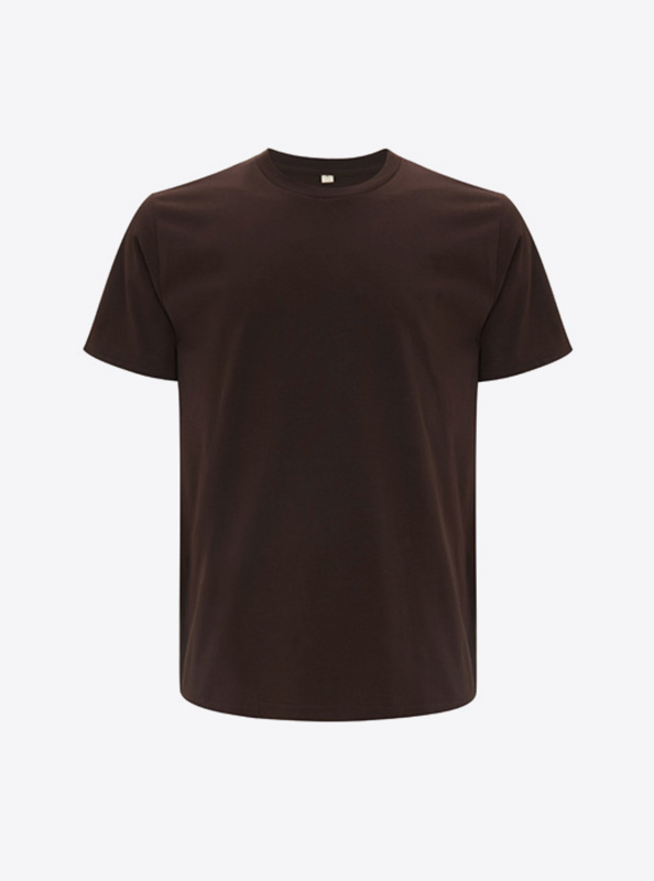 Herren T Shirt Drucken Earth Positive Ep01 Brown