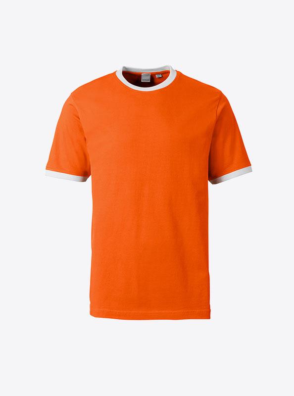 Herren T Shirt Drucken In Der Schweiz Sonar Soccer 2082 Orange White
