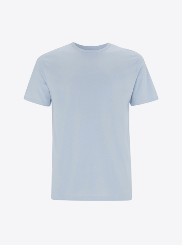 Herren T Shirt Drucken Lassen Guenstig Earth Positive Ep01 Light Blue