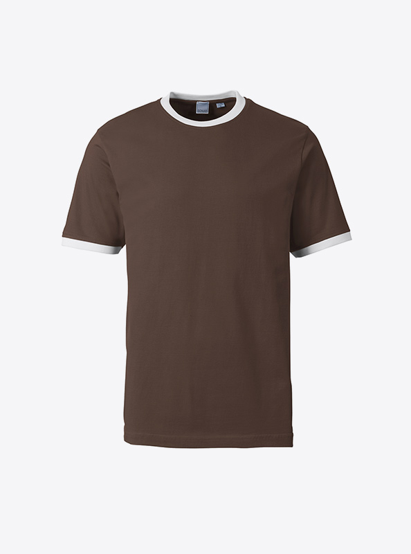 Herren T Shirt Drucken Lassen Sonar Soccer 2082 Brown White