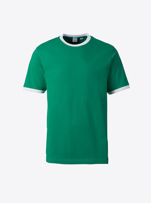 Herren T Shirt Guenstig Drucken Lassen Sonar Soccer 2082 Kellygreen White