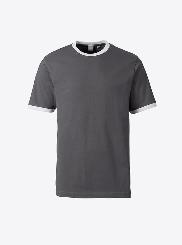 Herren T Shirt In Zuerich Drucken Sonar Soccer 2082 Dark Grey White