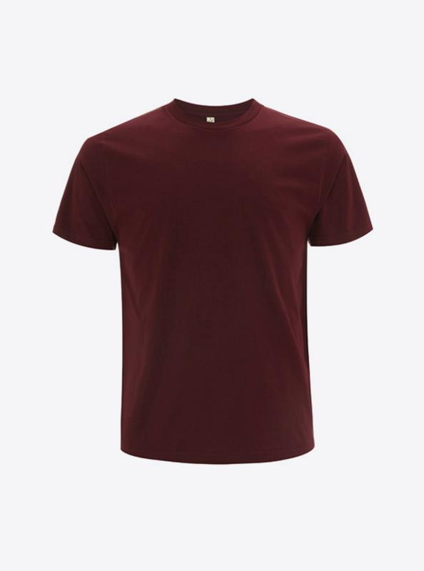 Herren T Shirt Individuell Bedrucken Lassen Earth Positive Ep01 Burgundy