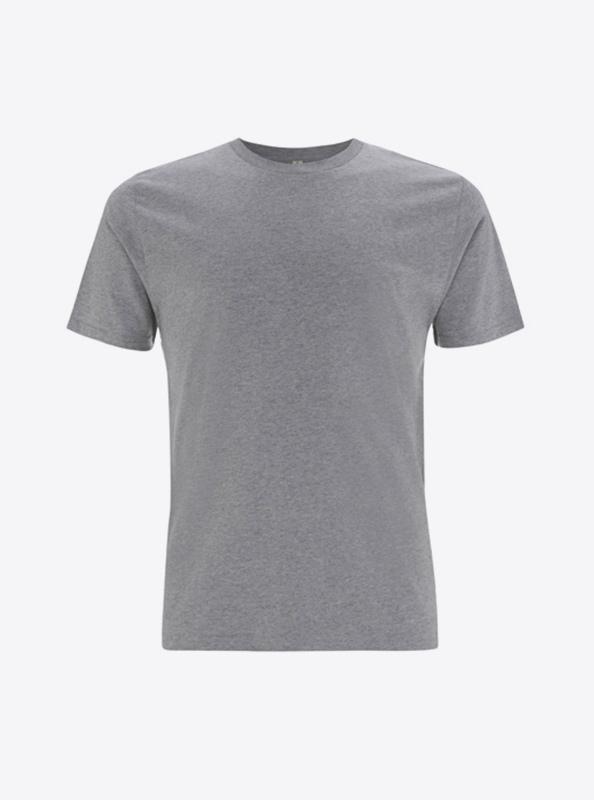 Herren T Shirt Kurzarm Mit Logo Drucken Lassen Zuerich Earth Positive Ep01 Melange Grey