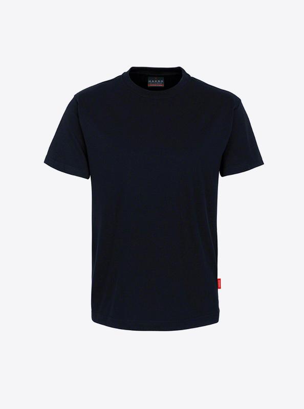 Herren T Shirt Mehrfarbig Bedrucken Hakro 281 Preformance Schwarz