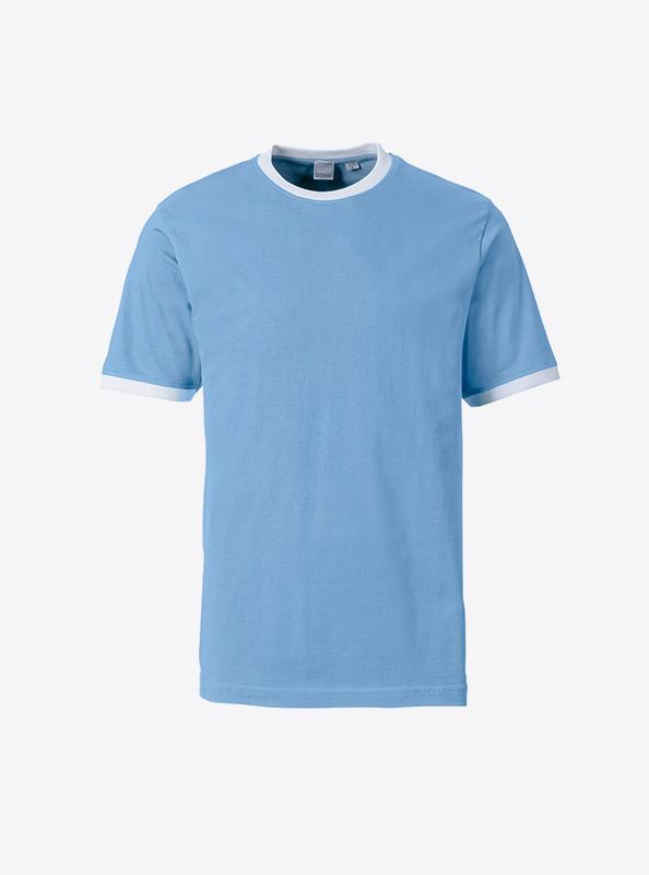 Herren T Shirt Mehrfarbig Bedrucken Lassen Sonar Soccer 2082 Skyblue White