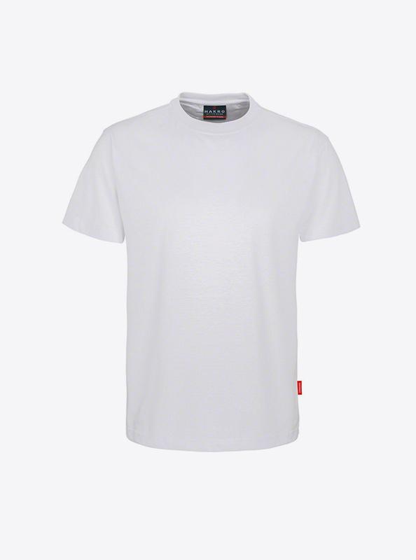 Herren T Shirt Mit Flockdruck Bedrucken Lassen Hakro 281 Preformance Weiss