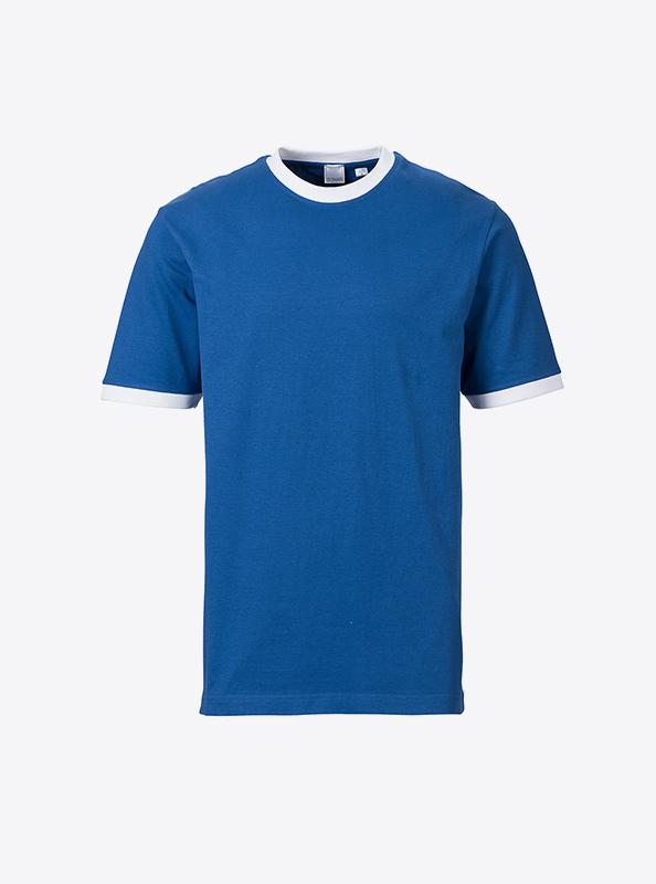 Herren T Shirt Mit Grossem Druck Bedrucken Sonar Soccer 2082 Royal White