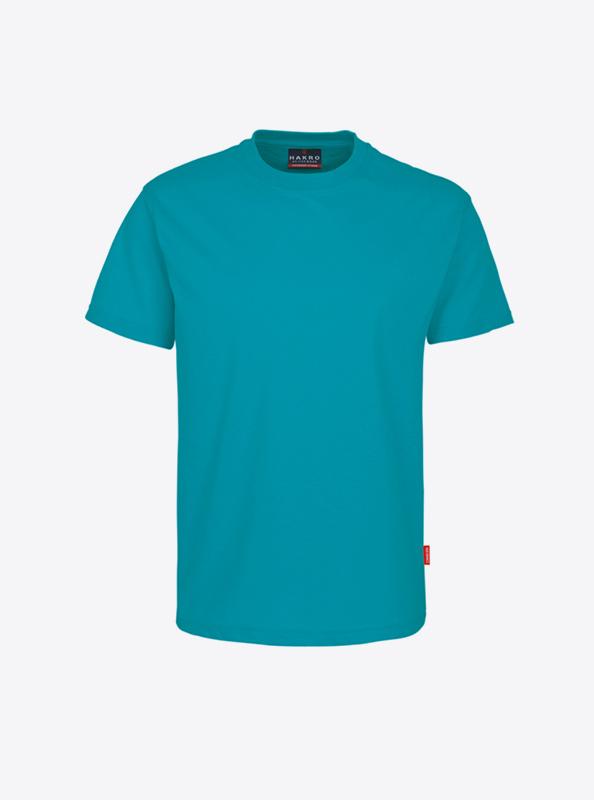 Herren T Shirt Mit Logo Bedrucken Hakro 281 Preformance Smaragd
