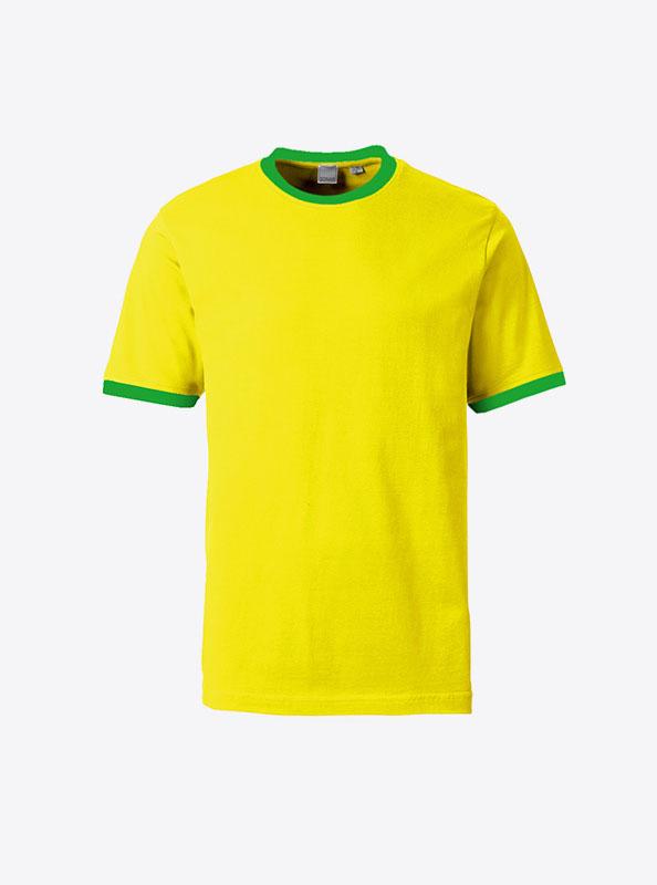 Herren T Shirt Mit Logo Bedrucken Lassen Sonar Soccer 2082 Yellow Green
