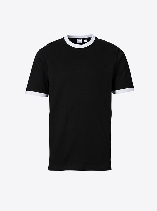 Herren T Shirt Mit Logo Bedrucken Oder Besticken Sonar Soccer 2082 Black White