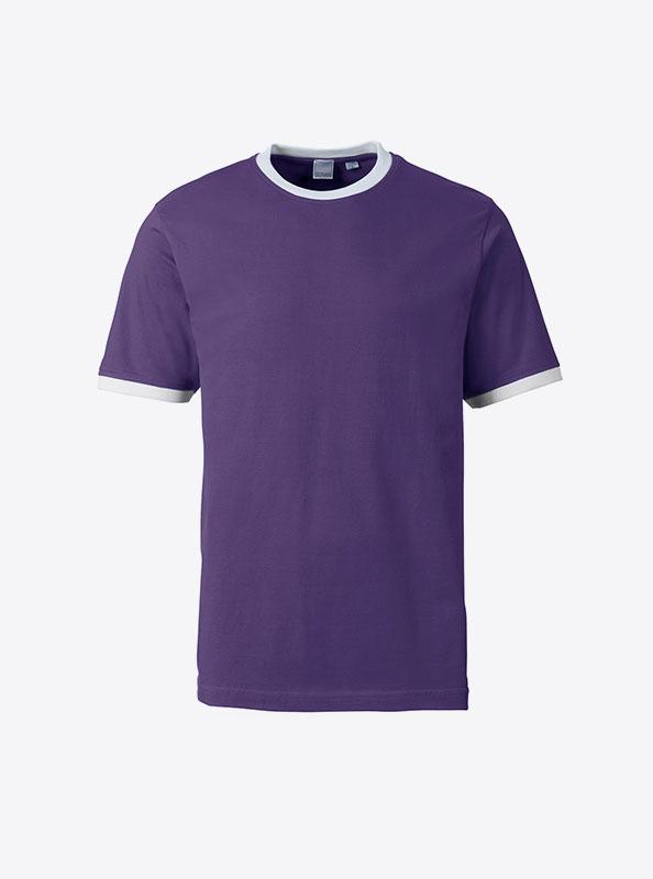 Herren T Shirt Mit Logo Bedrucken Sonar Soccer 2082 Ultraviolet White