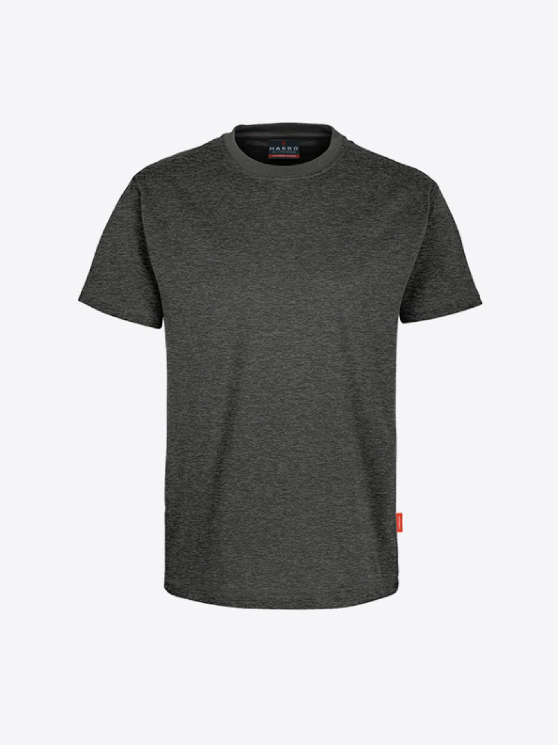 Herren T Shirt Mit Logo Drucken Lassen Hakro 281 Preformance Anthrazit Melange