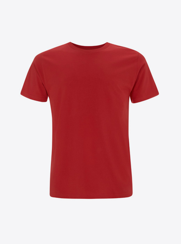 Herren T Shirt Mit Siebdruck Bedrucken Lassen Earth Positive Ep01 Red
