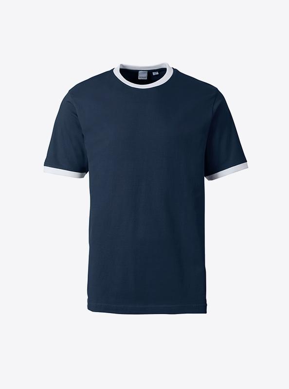 Herren T Shirt Mit Siebdruck Bedrucken Lassen Sonar Soccer 2082 Navy White