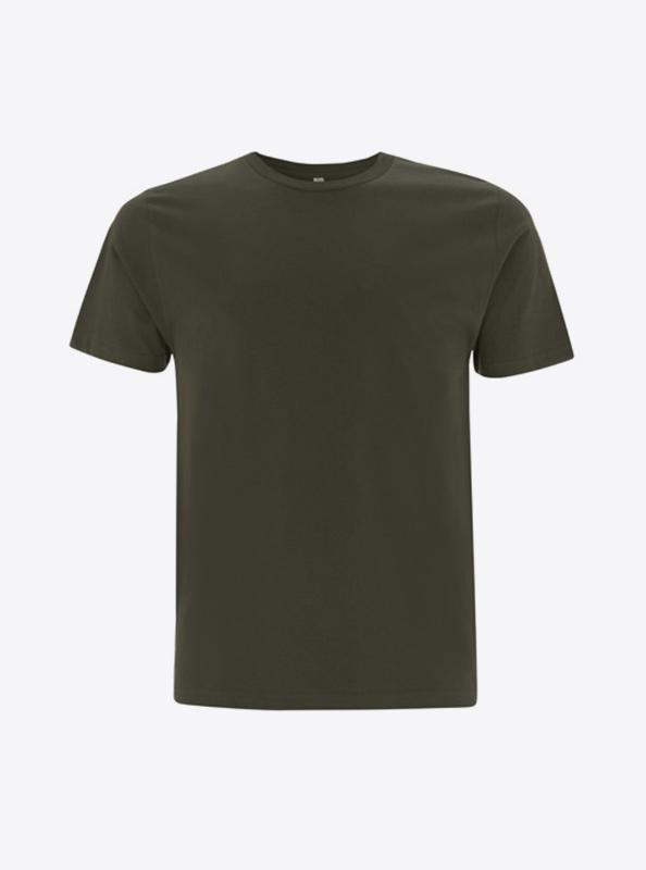 Herren T Shirt Mit Transferdruck Bedrucken Individuell Bedrucken Earth Positive Ep01 Moss Green