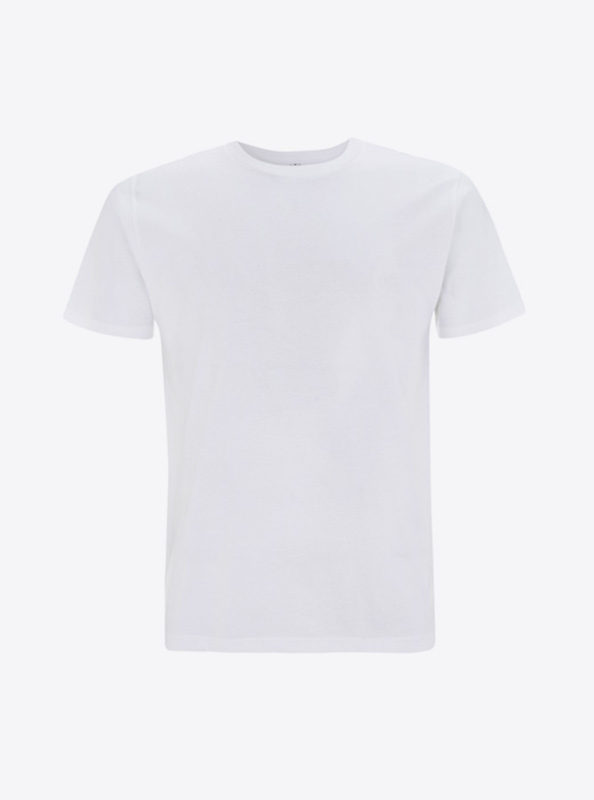 Herren T Shirts Drucken Earth Positive Ep01 White