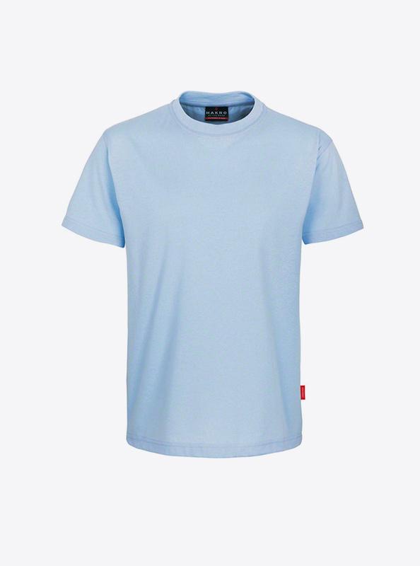 Herren T Shirts Mit Eigenem Design Bedrucken Hakro 281 Preformance Ice Blue