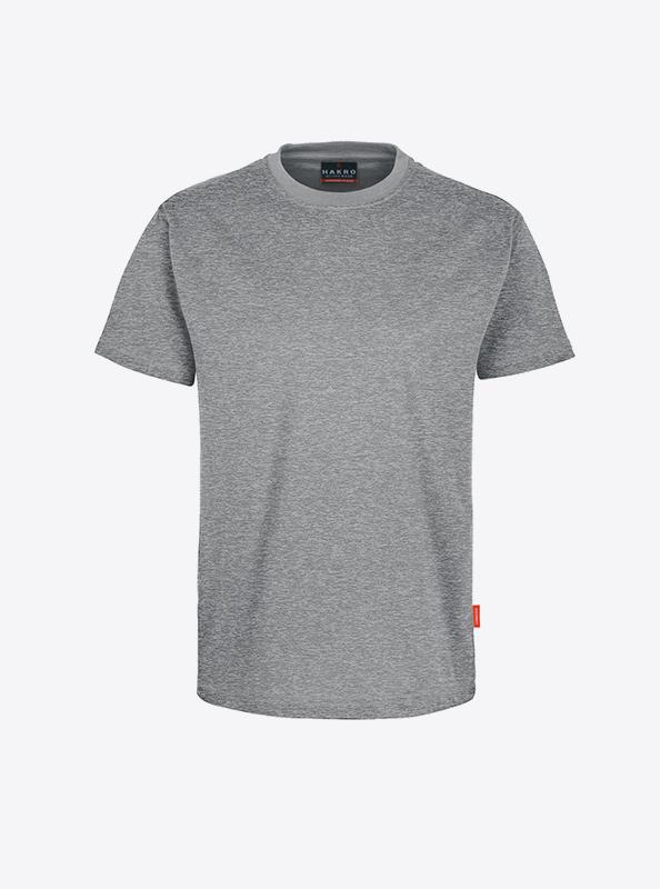 Herren T Shirts Mit Siebdruck Bedrucken Lassen Hakro 281 Preformance Grau Meliert