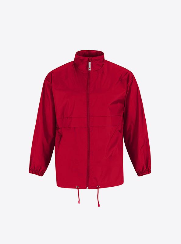 Herren Wind Jacke Mit Logo Drucken Bundc Sirocco Ju 800 Red