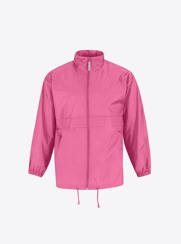 Herren Wind Jacke Mit Reissverschluss Farbig Drucken Bundc Sirocco Ju 800 Pixel Pink
