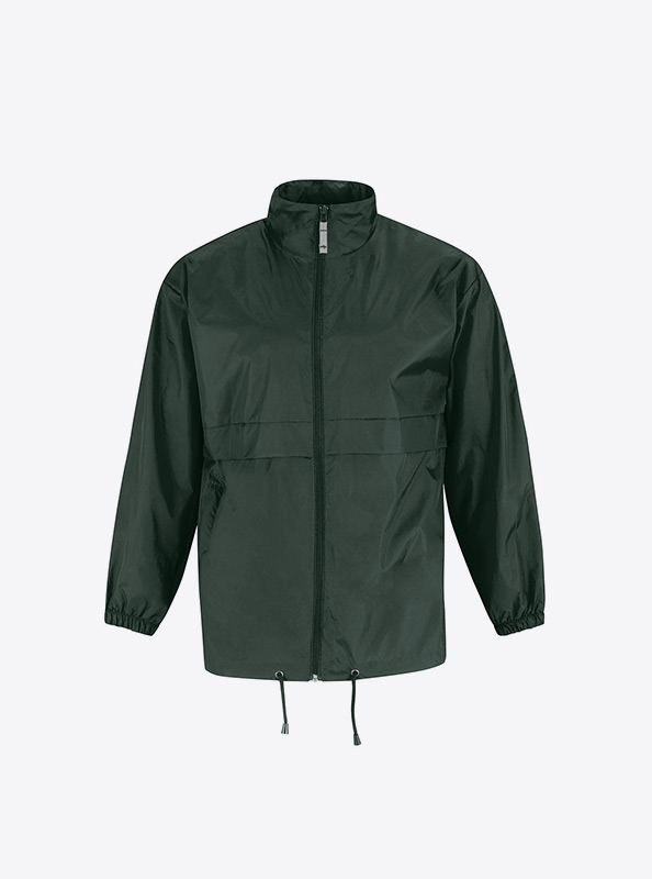 Herren Windjacke Mit Siebdruck Drucken Bundc Sirocco Ju 800 Bottle Green