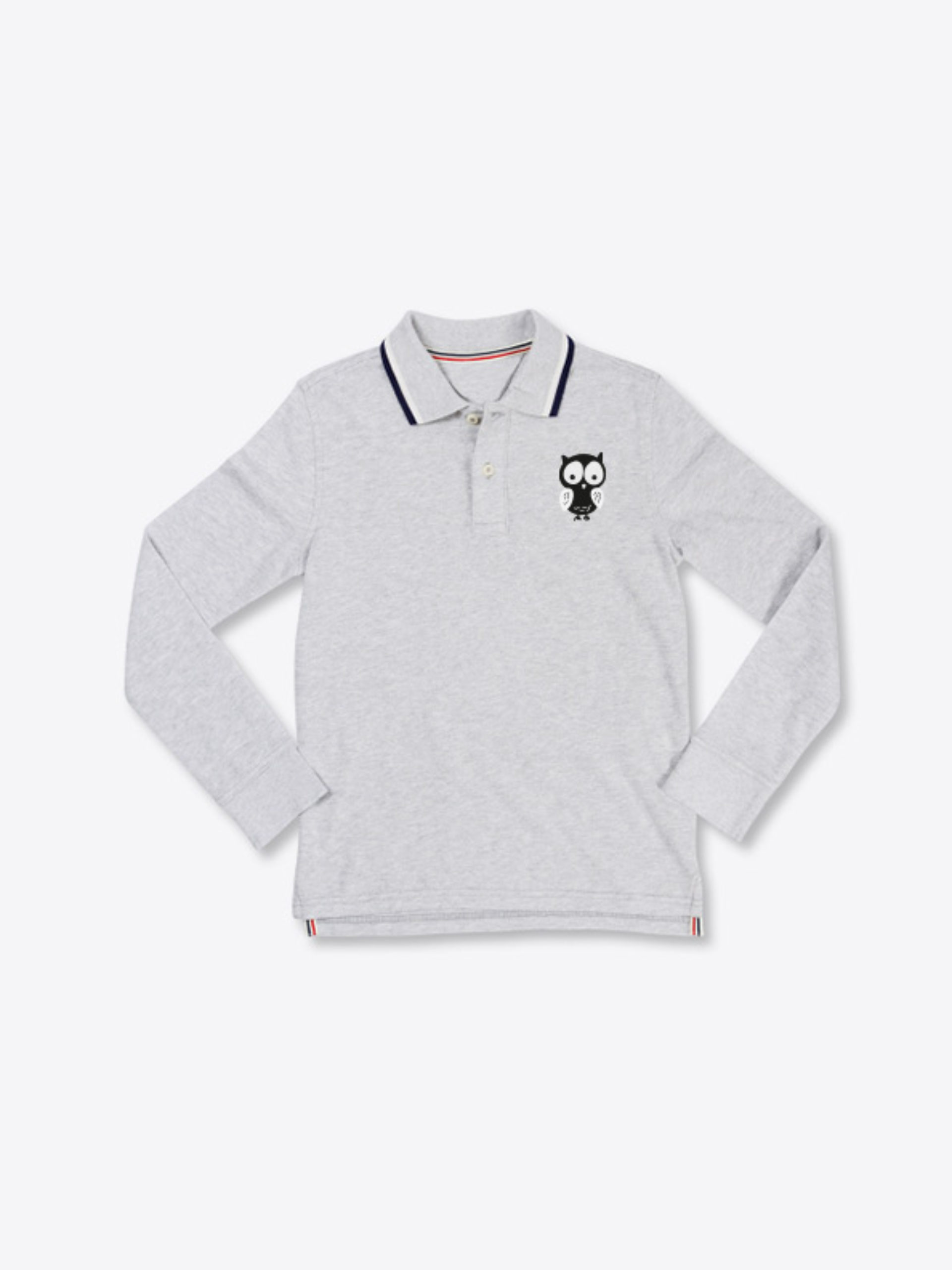 Kinder Polo Shirt Langarm Mit Logo Drucken