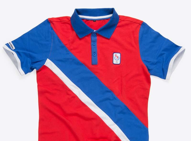 Kontraststreifen Polo Shirt