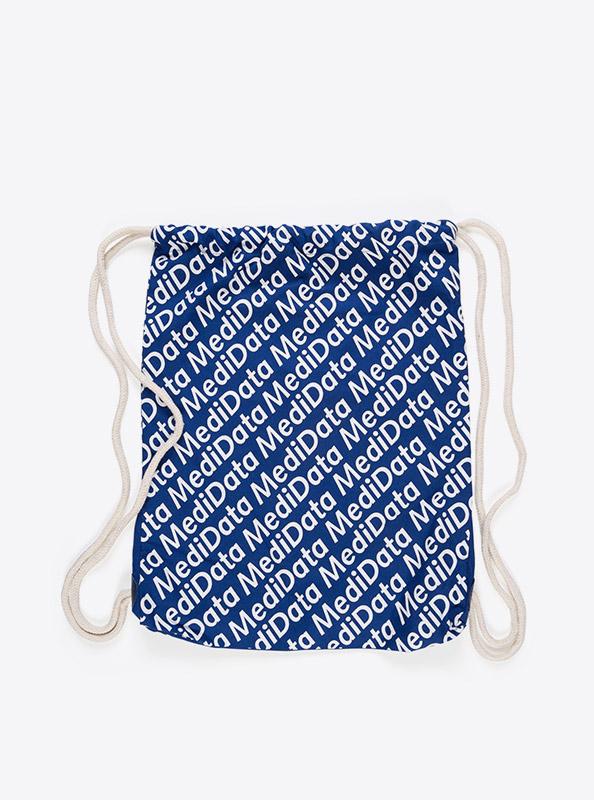 Kordel Rucksack Hipster Bag Bedruckt Mit Logo Medidata
