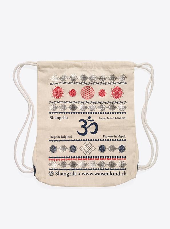 Kordel Rucksack Hipster Bag Bedruckt Mit Logo Shangrila