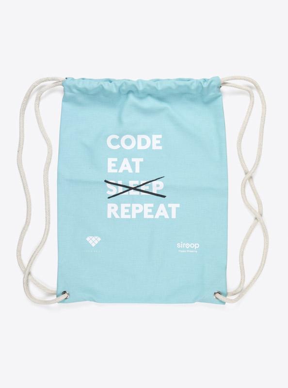 Kordel Rucksack Hipster Bag Bedruckt Mit Logo Siroop