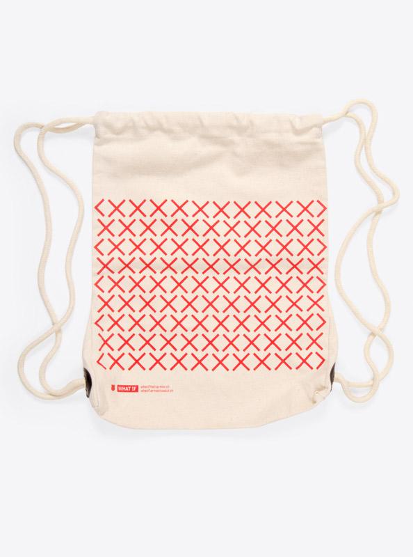 Kordel Rucksack Hipster Bag Bedruckt Mit Logo Whatif