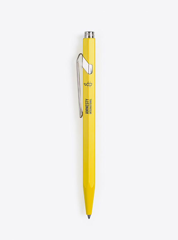 Kugelschreiber Caran Dache 849 Mit Logo Bedrucken Amnesty