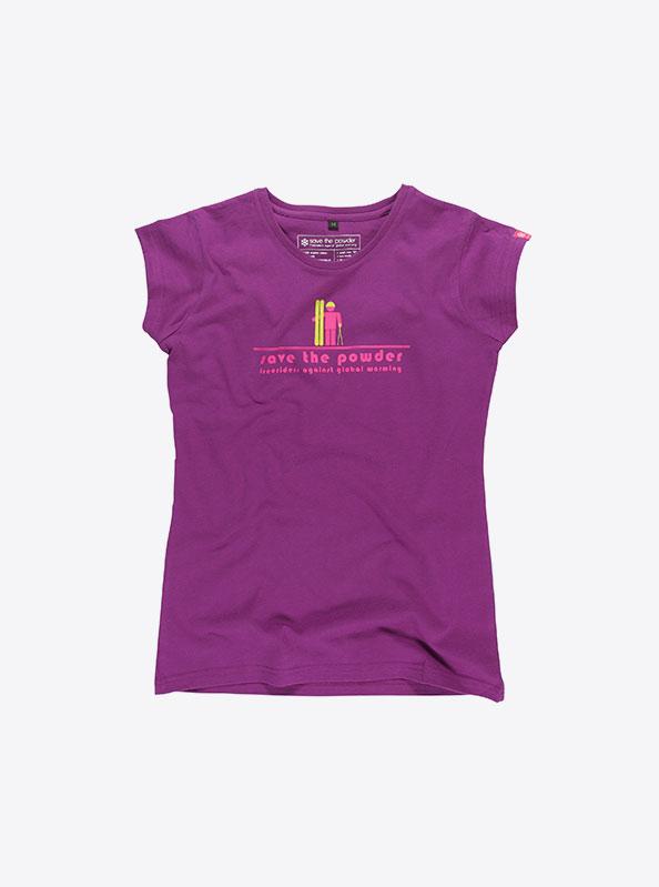 Kurzarm Damen T-Shirt Kurzarm Farbig Drucken