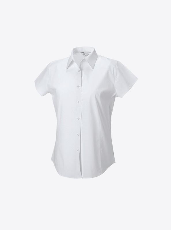 Kurzarm Hemd Fuer Damen Mit Logo Bedrucken Besticken Russell 947f Farbe White