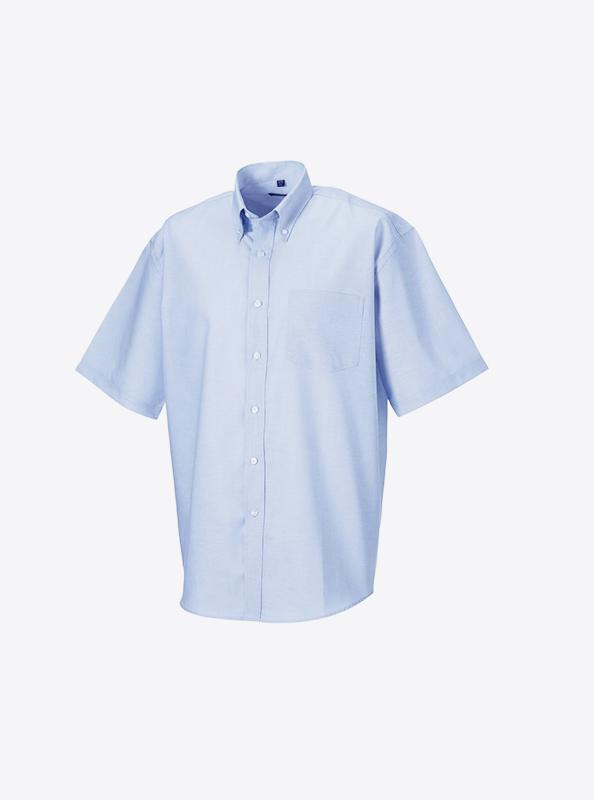Kurzarm Hemd Herren Bedrucken Russell 933m Oxford Blue