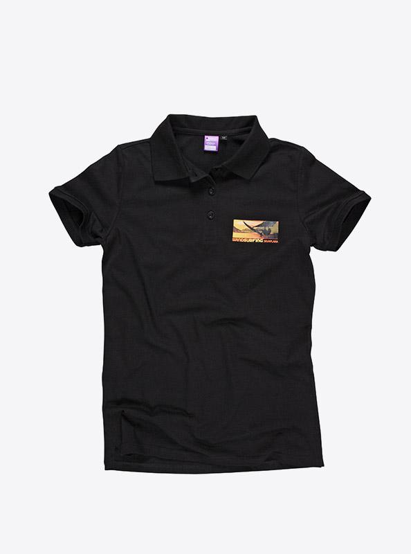 Kurzarm Polo Shirt Bestickt Bedruckt Windsurf