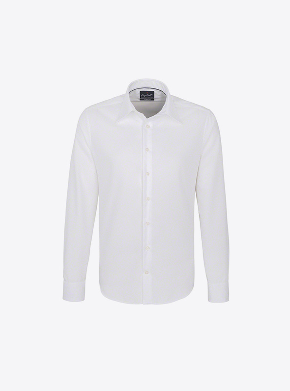 Langarm Hemd Herren Mit Logo Bedrucken Besticken Hakro 105 Farbe White