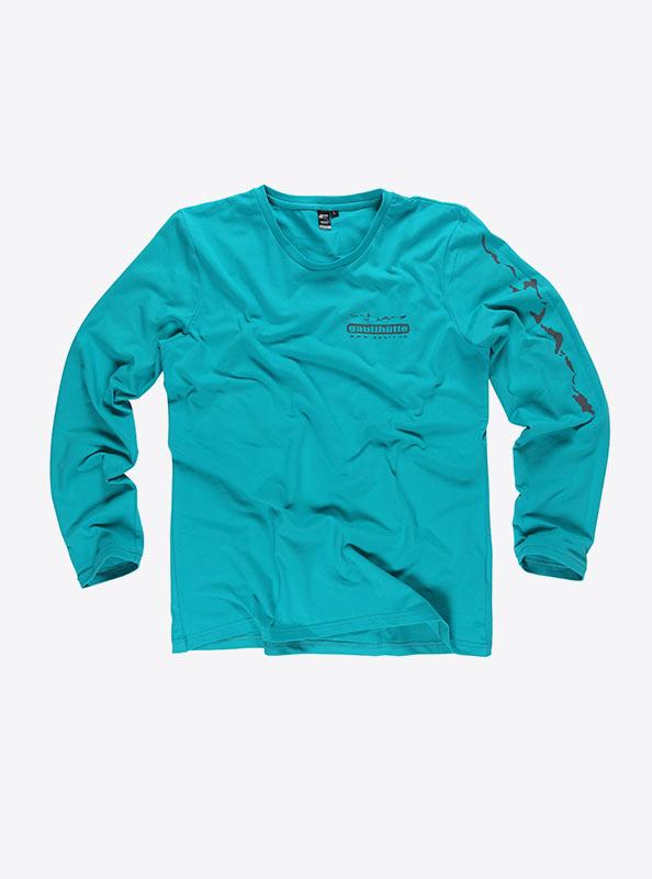 Langarm T Shirt Herren Besticken
