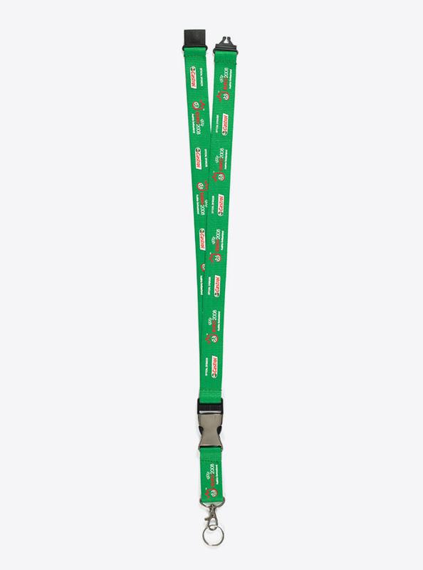 Lanyard Bedrucken Mit Siebdruck Matt Polyester Premium Mit Schluesselring Euro08