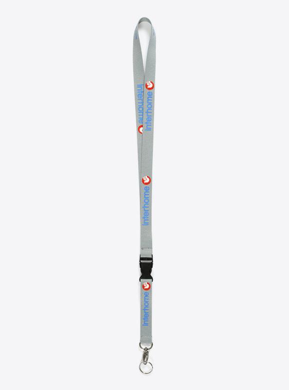 Lanyard Bedrucken Mit Siebdruck Matt Polyester Premium Mit Schluesselring Interhome