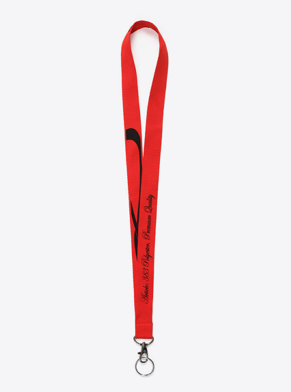 Lanyard Bedrucken Mit Siebdruck Matt Polyester Premium Mit Schluesselring Manroof