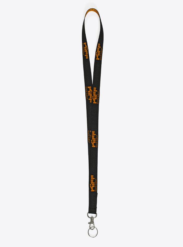Lanyard Schluesselband Bedrucken Mit Einwebung Polyester Mit Steckschnalle Kiff