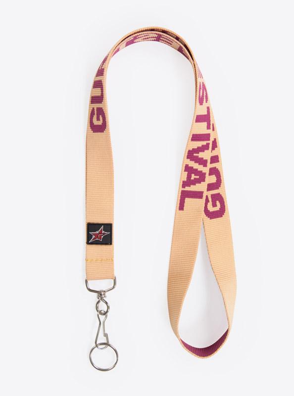 Lanyard Schluesselband Robusto Logo Einwebung Eifabrig Farbnegativ Polyester Mit Schluesselring Edel