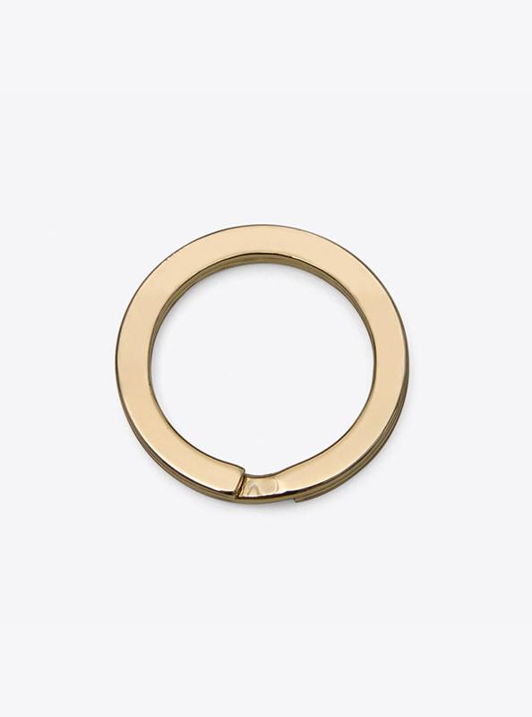 Schlüsselring ohne Gravur Gold