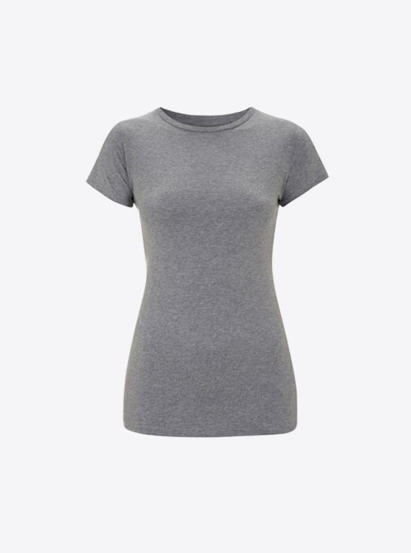 Logo Auf Damen T Shirts Drucken Fuer Verein Earth Positiv 04 Melange Grey