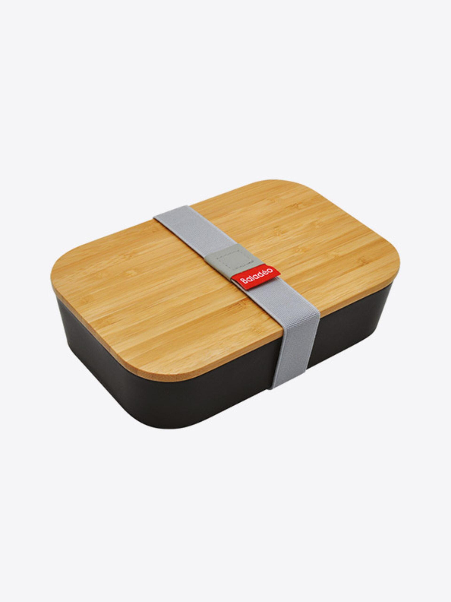 Lunchbox Akita Schwarz Bambus Mit Logo Bestellen